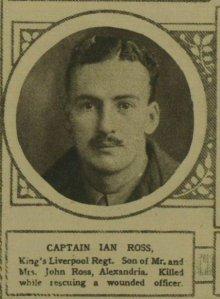 CAPT IAN ROSS DIED 25/04/191`6
